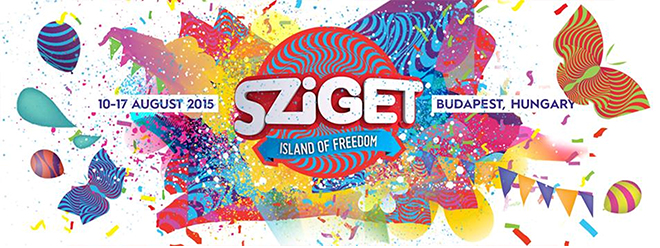 Festival branding, festival map, and a bird's-eye view of Óbuda Island ©Sziget Festival