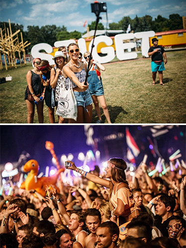 The Sziget Festival 2015 Instagram page and audience members ©Sziget Festival