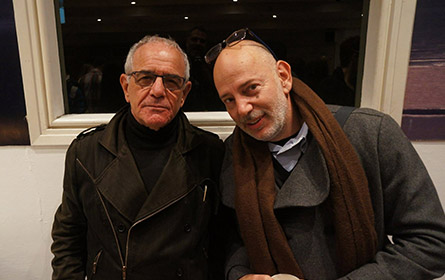 Yair Vardi (L), director of the Suzanne Dellal Centre, and Israeli choreographer Itzik Galili (R) ©Ahram GWAK