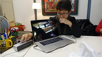 인터뷰 중인 Sandra Tavali Wuan-chin LI ©Sandra