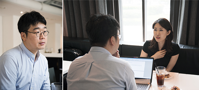 Writer(Song Hyun min) and Kim Hyo-young © Lee Ganghyuk