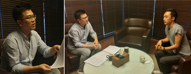 ▲ Interviewer and director Lee Kyung-Sung © Park Ye-lim