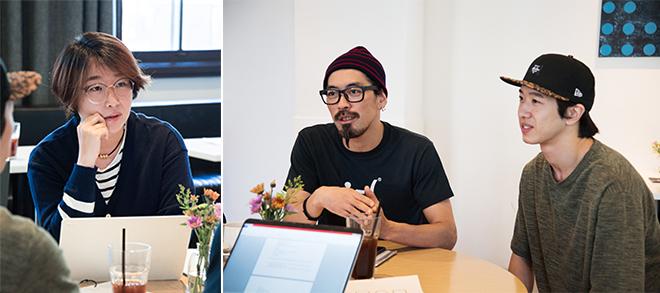 ▲ 필자와 앰비규어스 댄스컴퍼니 김보람 안무가와 장경민 대표 © 이강혁