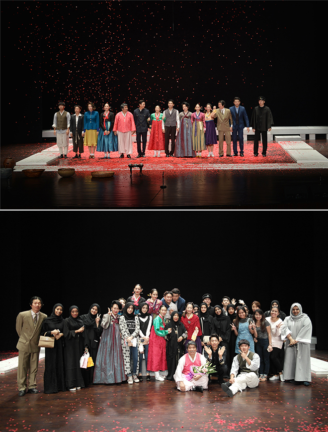 ▲ From the performance of Hongdo at Abu Dhabi National Theatre © Playfactory Mabangzen