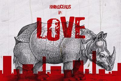 The poster of Meng Jinghui's <Rhinoceros in Love>