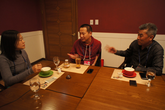 Shao Zehui (left) and Fu Weibo (right) during the interview