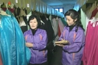Performance leaflets archived at the costume preservation room (Right) ⓒKorea Central Television screen capture