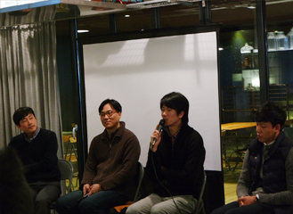 Scenes from the Malaysia Now! Connection Salon Talk (from left: Seo Myeong-gu, Lee Dong-min, Lee Seung-hyo, Lee Dong-won)