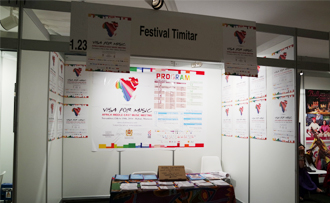 The Timitar Festival booth at WOMEX 2014